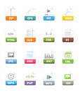 File icons internet on white background Royalty Free Stock Image