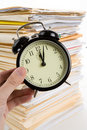 File Stack and clock Royalty Free Stock Images