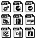 File type icons Royalty Free Stock Photos