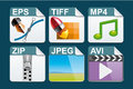 File type icons set of Royalty Free Stock Image