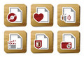 File types icons | Cardboard series Stock Photo