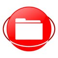 File vector illustration, Red icon Royalty Free Stock Photo
