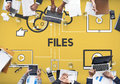 Files Data Information Devices Storage Concept Royalty Free Stock Photo