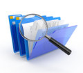 Files investigation. Stock Images