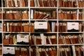 Files on Shelf Royalty Free Stock Photo