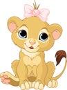 Filhote da menina do leão Foto de Stock