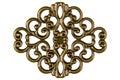 Filigree decorative element for manual work isolated on white background Stock Photo