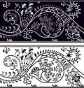 Filigree flower border Royalty Free Stock Image