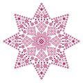 Filigree star red Stock Images