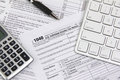 Filing online taxes before deadline Royalty Free Stock Photo