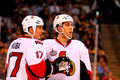 Filip Kuba and Jared Cowen Ottawa Senators Royalty Free Stock Photos
