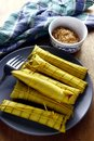 Filipino delicacy food locally called suman Stock Image