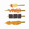 Filipino street foods  on white background Royalty Free Stock Photo
