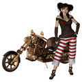 Fille 1 de Steampunk Photo stock