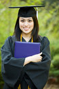 Fille de graduation Images stock