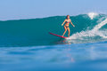 Fille de surfer Photos libres de droits