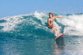 Fille de surfer Images libres de droits
