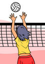 Fille de volleyball Images libres de droits