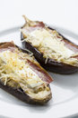 Filled eggplant vegetal food Royalty Free Stock Photography