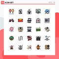 25 Filled line Flat Color concept for Websites Mobile and Apps audio, development, gondola, develop, app