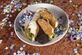Filled sicilian cannoli  Royalty Free Stock Photos