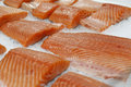 Fillet of red fish on ice Royalty Free Stock Photo