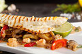 Fillet of Seabass with Vegetables Royalty Free Stock Photo
