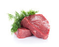 Fillet steak beef isolated on white background Royalty Free Stock Photography