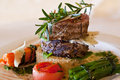 Fillet tower on Rosti Royalty Free Stock Photography
