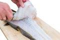 Filleting Fish Royalty Free Stock Photo
