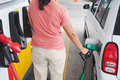 Filling car petrol Stock Photography