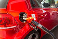 Filling up the car with gas Royalty Free Stock Photography