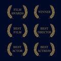 Film awards logo Royalty Free Stock Photo