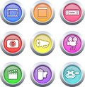 Film buttons Royalty Free Stock Photography