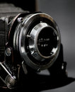 Film camera in black Royalty Free Stock Photos