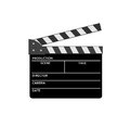 Film clap vector image Stock Image