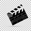 Film clapper flying transparan effect background Royalty Free Stock Photos