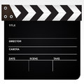 Film Clapper Isolated On White...