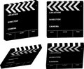 Film clapper variation Stock Image