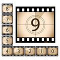 Film countdown Royalty Free Stock Photography