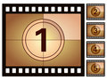 Film countdown 2 Stock Photography