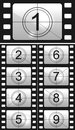Film countdown Royalty Free Stock Photo