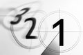 Film countdown 3 2 1 Royalty Free Stock Photo