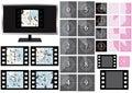 Film Countdown Screen Grunge_eps Royalty Free Stock Photo