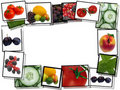 Film frames with fresh  food images Royalty Free Stock Photography
