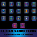 Film genre icons Royalty Free Stock Photos