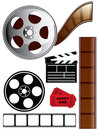Film and Movie Icon Set Royalty Free Stock Image