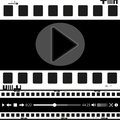 Film, movie, photo, filmstrip set of film frame,  illustration Royalty Free Stock Photo