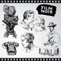 Film noir - vintage collection Stock Photography