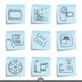 Film post it icons..series no.17 Royalty Free Stock Photos
